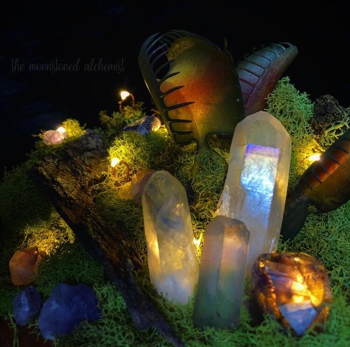 Crystal forest terrarium light