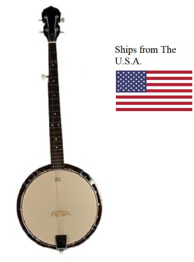 """BRAND New 5-String BANJO - Remo Head 38"""" TRADITIONAL Bluegrass Solid Sapele Wood"""