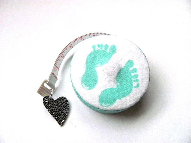 Tape Measure with Baby Feet and Hand Prints Retractable Measuring Tape