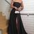 Women Elegant Strapless Evening Long Dresses 2019 with Slit Burgundy /Blue M7128