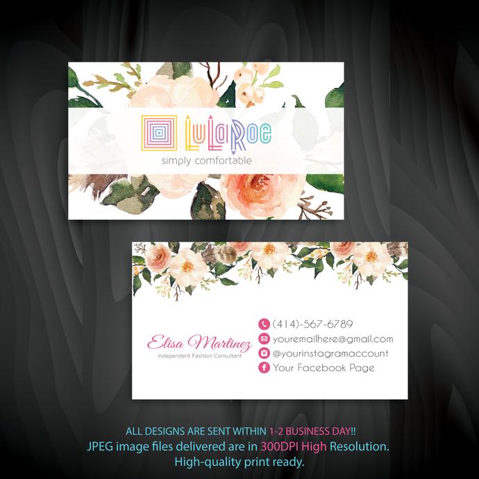 Personalized Lularoe Business Cards, Lularoe, Business Cards, Lularoe Digital