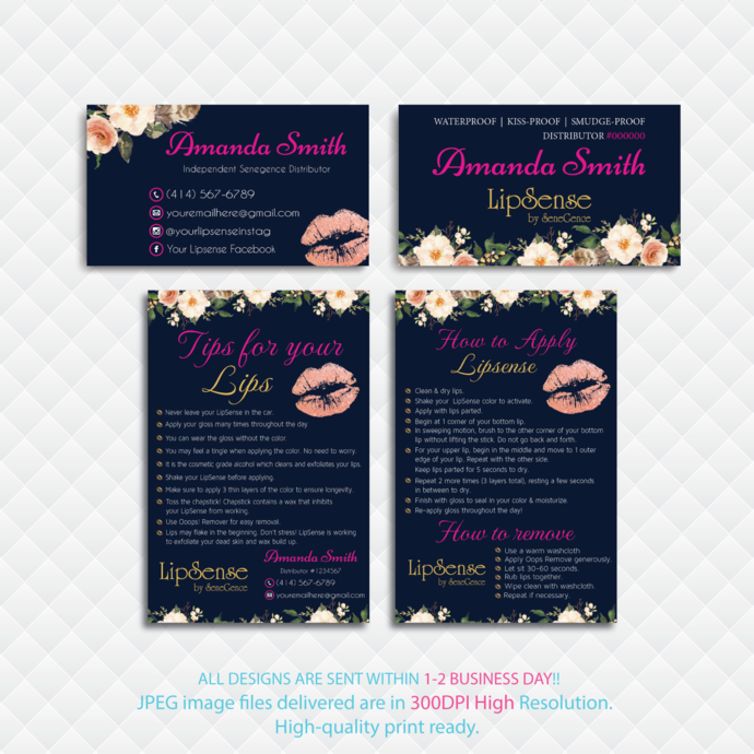 LipSense Tips and Tricks, Watercolor Lipsense Cards, Watercolor Flowers Cards,