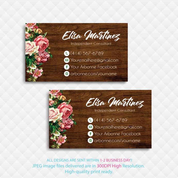Arbonne Consultant, Arbonne Digital file card, Personalized Arbonne Business