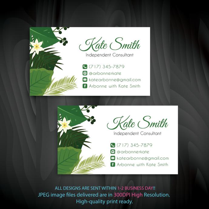 Arbonne Consultant, Arbonne Digital file card, Arbonne Business Card,