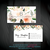 Beauty Counter Business Card, Watercolor Flower Business Card, Printable Card,