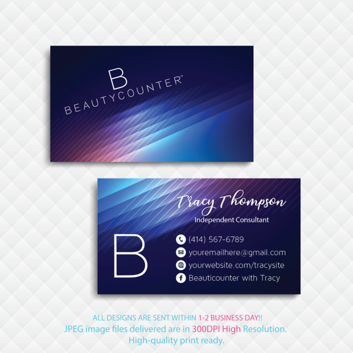 Personalized Beauty Counter Business Card, Beauty Counter Business Card, Glitter