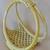 Boutique basket, macrame basket, light gold basket, towel basket, envelope