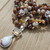 Citrine Dream Long Beaded Necklace with Pendant Bohemian Style Jewelry Gifts by
