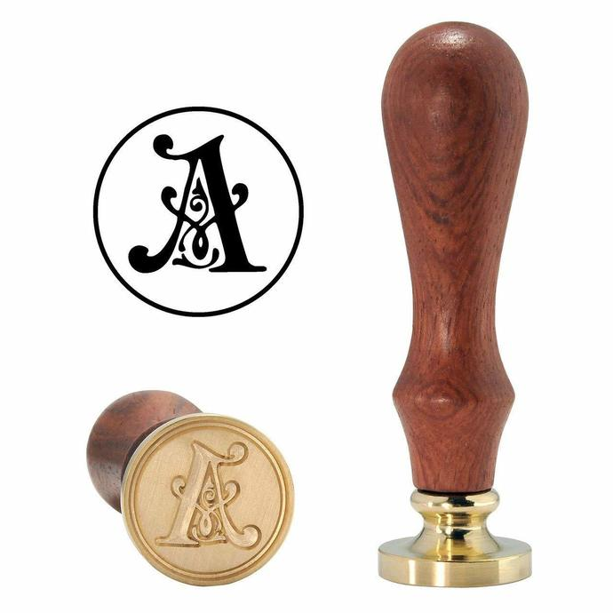 Letter A -Vintage Style Alphabet Initial Brass Wax Seal Stamp stamper