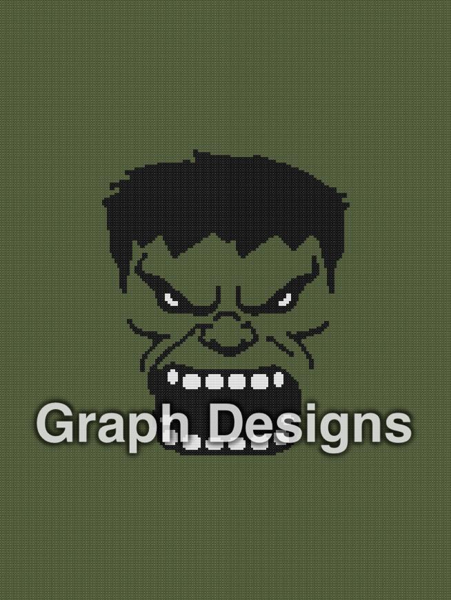 The Hulk Throw - SC - 180x240 - Graph w/Written - Design by Graph Designs