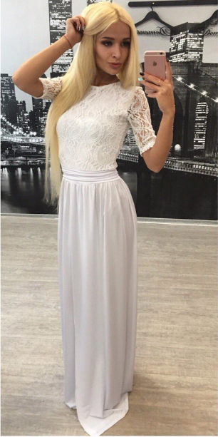 Lace Long Prom Dresses,Evening Dresses