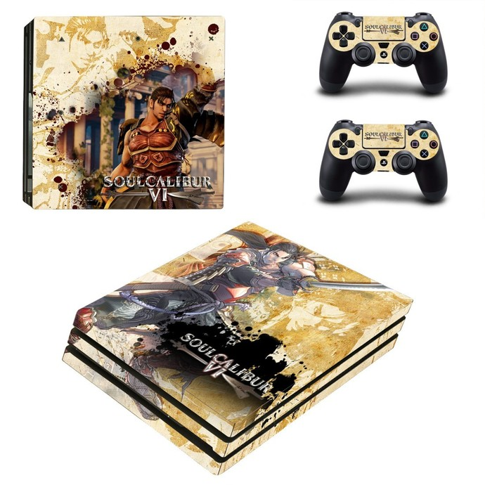 Soulcalibur 6 PS4 pro Skin for Playstation pro Console & Controllers