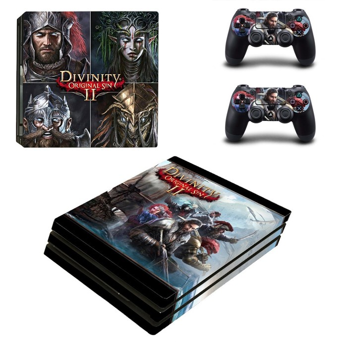 Divinity Original Sin 2 PS4 pro Skin for Playstation pro Console & Controllers