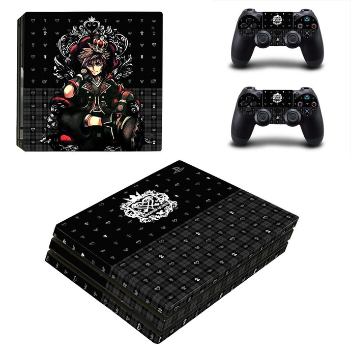 Kingdom Hearts 3 PS4 pro Skin for Playstation pro Console & Controllers