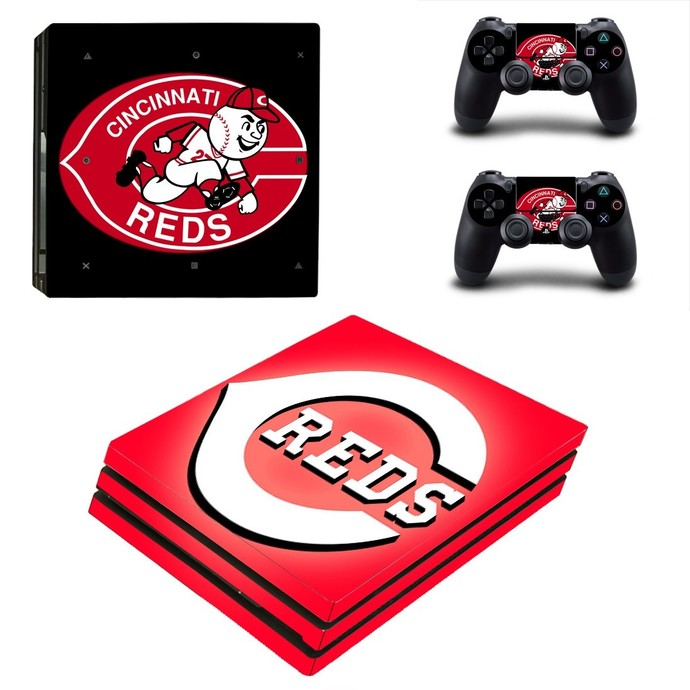 Cincinnati Reds PS4 pro Skin for Playstation pro Console & Controllers