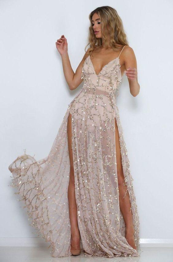 long sequin dress