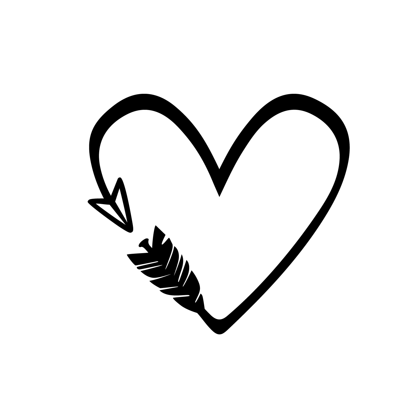 Heart Arrow Love Graphics SVG Dxf EPS Png Cdr by ...