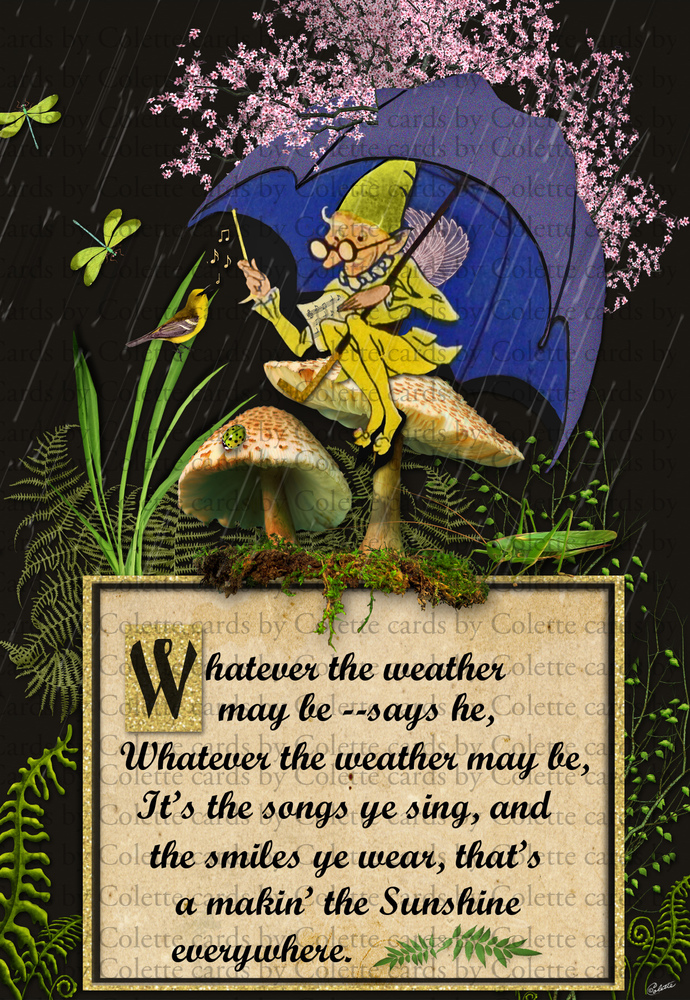 Whatever the Weather Digital Collage Greeting Card2237