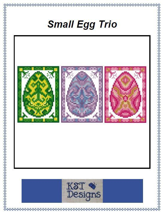 Small Easter Egg Trio - Digital Cross Stitch Pattern