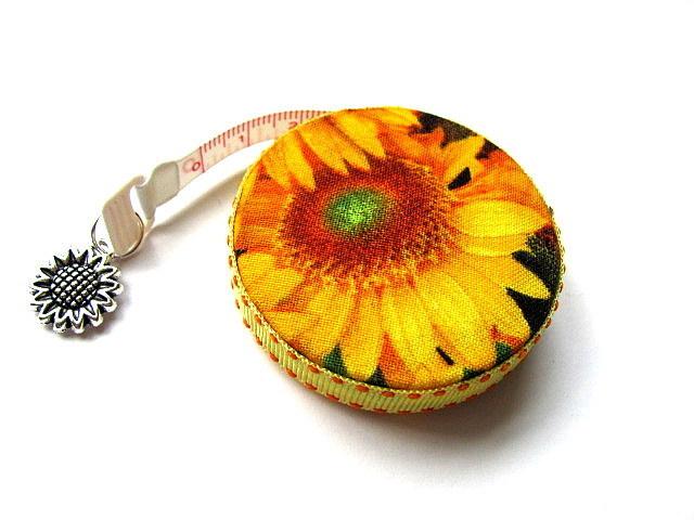 Retractable Tape Measure  Sun Flowers Pocket Measuring Tape