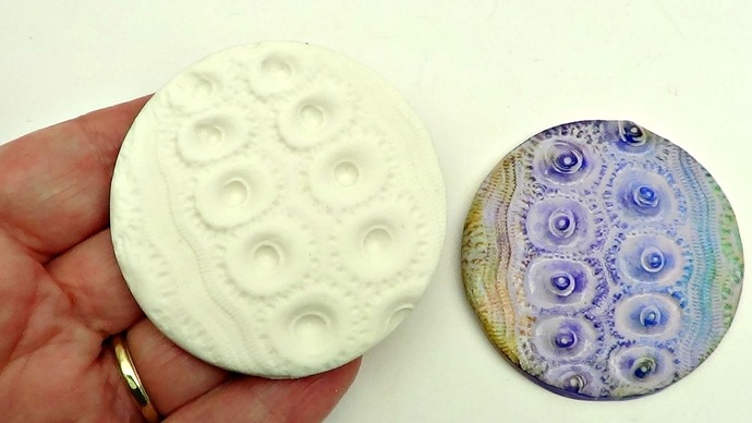 Large 58 mm or 2.25 inch  round Urchin Mold - Sea Urchin 9 - Rigid Mould - Bumpy