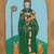 Saint Patrick and His Cats Whimsical Cat Folk Art Giclee Print 8x10, 11x14