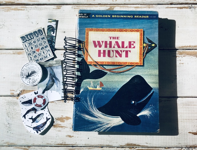 Nautical Themed Junk Journal, The Whale Hunt Vintage Journal