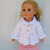Crochet Pink and White Jacket, Skirt and Booties for American Girl 18 inch Doll