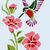 Tribal inspired Hummingbird. graph and written