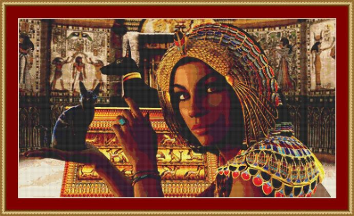 Egyptian Queen Cross Stitch Pattern - Instant Digital Downloadable Pattern