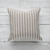 Outdoors striped pillow cover Beige color farmhouse style outdoors pillow case