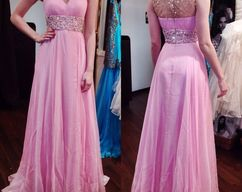 a0ac02cd8754 Plunging Neckline Belted Silk and Tulle Mermaid by RosyProm on Zibbet