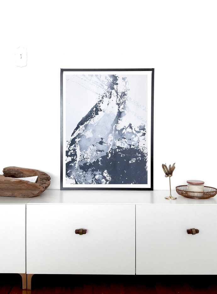 Abstract gray and white painting, original painting, contemporary wall art,,