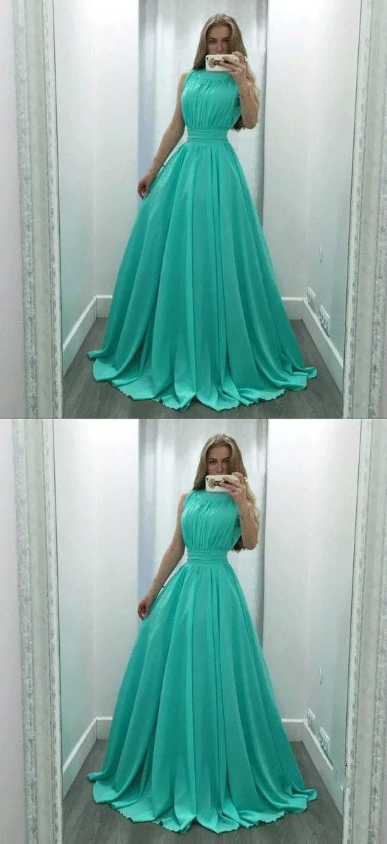 Charming Green A Line Prom Dress , Sexy Evening Party Dress