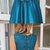 Royal Blue Satin Beading Sleeveless Charming Prom Dresses Q4257