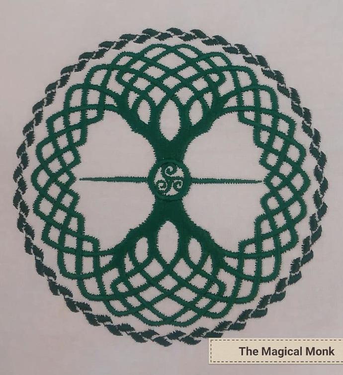 Celtic tree of Life 2 Tea Towel