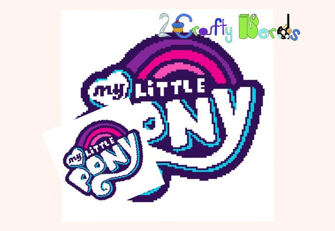 MLP Logo Block Pattern Graph With Single Crochet and TSS Written