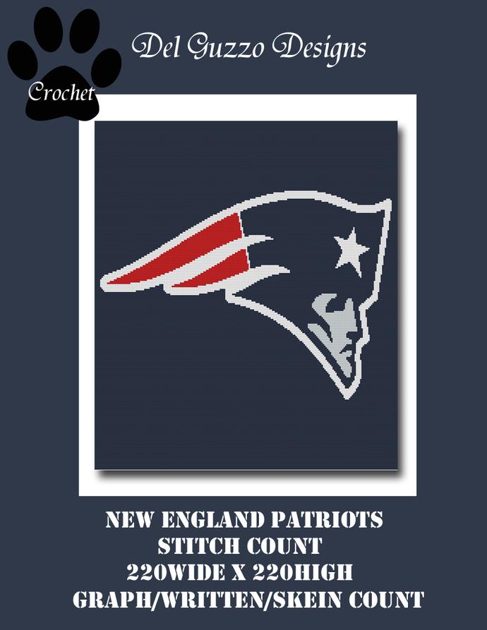New England Patriots 220x220 Single Crochet