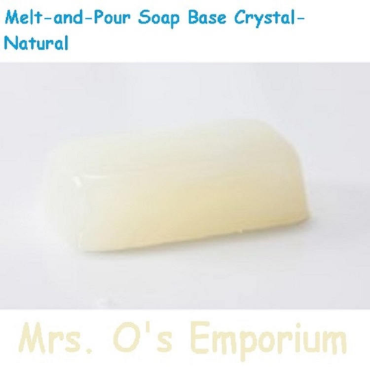 2 Pounds All-Natural Sulfate-Free Melt-and-Pour Soap Base Crystal-Natural