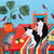"LARGE 24"" x 30"" Tuxedo Cats In Dining Room Original Cat Folk Art Painting"