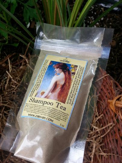 No-Poo Shampoo Tea, 3 oz, Yucca Shampoo, Soapwort Shampoo, Soapnut Shampoo, Amla