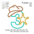 Sheriff number 3 3rd birthday applique embroidery design, applique embroidery