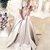 Applique Long Prom Dresses Half Sleeve Satin Evening Dresses A-Line Formal