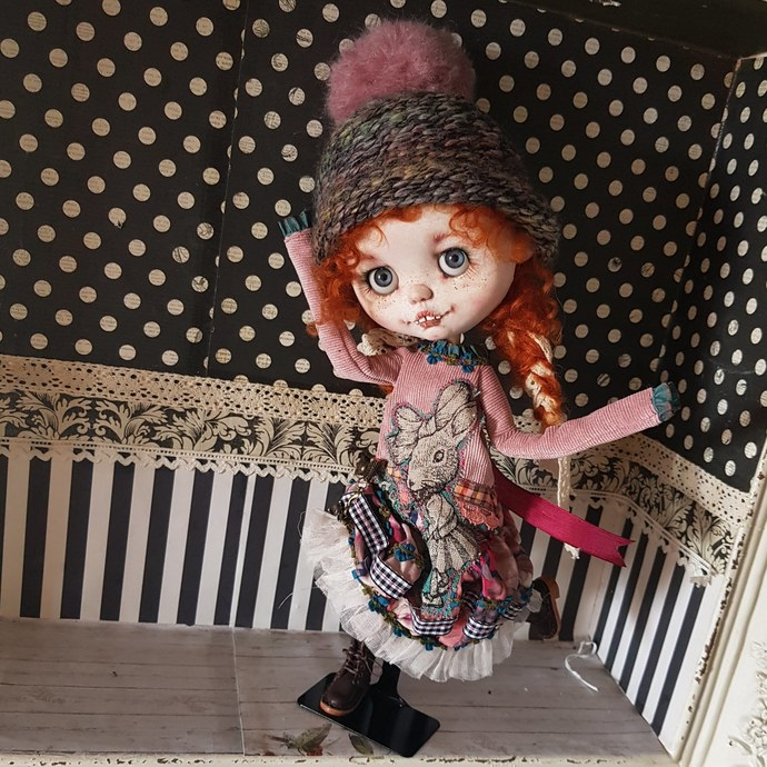 HANDMADE OOAK dress for blythe, collection Alice: pink color