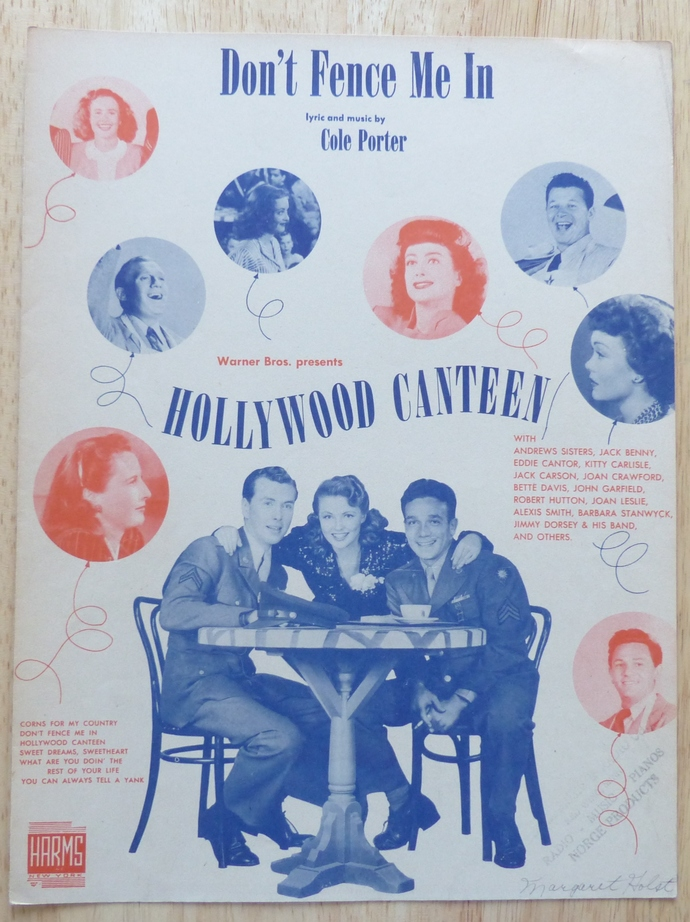 Don't Fence Me In, Vintage sheet music, Collectible music, Antique sheet music,