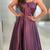Best Selling Elegant Straps Taffeta Purple Long Prom Dress Evening Dress