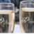 NEW Bride and Groom Double Heart Wedding Toasting Glasses Champagne Flutes