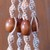 macramé plant hanger, plant hanger, macramé hanger, home décor, orange gold and
