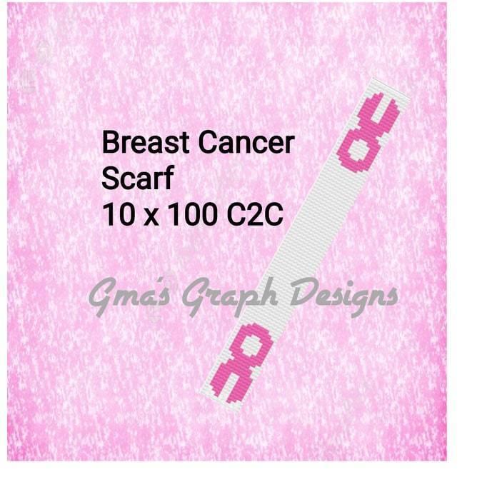 Breast Cancer Scarf 10 x 100 c2c