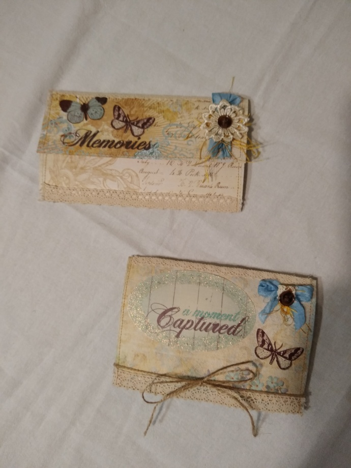 """""""Forget-me-nots & butterflies"""" Wallet journal and photo book set"""